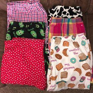 Women's XL Sleep Shorts Capris Pajamas Pants PJs